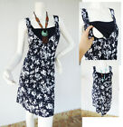 LEAF Maternity Clothes Mini Dress Nursing Breast feeding NEW Pregnancy Clothing