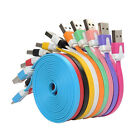 1/2/3M Practical Flat Noodle Micro USB Data Charger Cable for Samsung Galaxy HTC