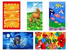Printed Velour Beach Towel Starfish Horses Sea Life Skull Floral 70cm X 140cm
