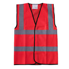 Red Hi Vis Viz Vest High Visibility Reflective Safety Waistcoat Work Wear