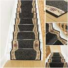 Wave Black - Stair Carpet Runner For Narrow Staircase Quality Wilton Cheap New