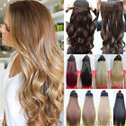 UK Seller clip in on synthetic hair extensions one piece thick half full head