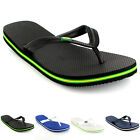 Mens Brazil Logo Beach Summer Brasil Holiday Sandals Shoes Flip Flops UK 5-12