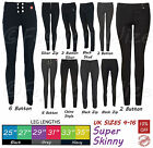 Girls Black Grey School Trousers Sizes 4-16 Miss Sexies Miss Chief Super Skinny
