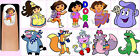 60x DORA THE EXPLORER Nail Art Decals + Free Gems Boots Backpack Map Swiper Fox