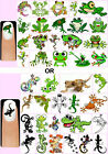 60x Frogs OR Geckos Nail Art Decals + Free Gems