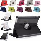 360° Smart Rotating Rotate PU Leather Case Cover Stand For The New iPad 4 3 2