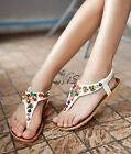 Gorgeous Ladies Women Summer Sandals Strappy Flat Low Beach Shoes New Size Top