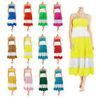 Ladies Designer Summer Beach Boho Maxi Dress Skirt Sexy Bikini Swimwear Cover Up