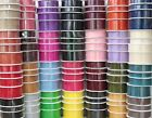 20/50 METRES WOVEN EDGE ORGANZA RIBBON 7mm, 15mm, 25mm, 38mm various colours