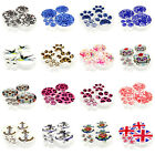 14 Sizes 16 Hot Popular Image Logo Acrylic Screw Flesh Tunnels White Ear Plugs