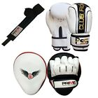 KIDS BOXING GLOVES PUNCH BAG JUNIOR MITTS & FOCUS PADS HAND WRAP TRAINING SET 7