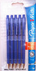PAPERMATE FLEXGRIP ULTRA RETRACTABLE BALL POINT PENS BLUE PACK OF 5 or 10