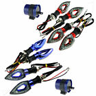 2 Pairs 12 LED Motorcycle/Bike Turn Signal Indicators With Relay For Yamaha BMW