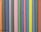 """¼"""" GINGHAM CHECK POLYCOTTON  FABRIC Per Meter"""