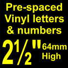 "QTY of: 18 x 2½""  64mm HIGH STICK-ON  SELF ADHESIVE VINYL LETTERS & NUMBERS"