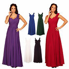Long Chiffon Ruffled Flower Formal Prom Ballgown Evening Dress UK Sizes 8-24