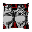 Alice In Wonderland Grunge Tweedledum (Red Version) Two Sided Cushion Cover