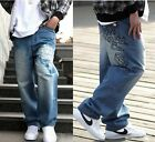 Classical Men's Hip Hop Pants Ecko Loose Dance Trousers Embroidery Casual Jeans