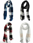 Charter Club Women's Color Block Knit Chenille Fringe Scarf -- Choose Color!