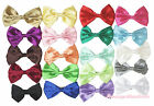 Wholesale Lot 20 Rainbow Solid Color Satin Ribbon Bow Girl Hair Clip Accessory