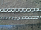 1 METRE CONTINUOUS SILVER PLATED CHAIN - CHOICE OF LINK SIZE