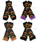 Halloween Black Pumpkin Spider Bat Baby Girl Leg Warmer Ruffle Leggings