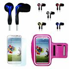 Galaxy S5 Active Sports Bundle Pink Armband + Boombug Headset + Screen Protector