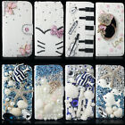 White Bling Flip Wallet Leather Case Cover For iPhone 4 4S 5C 5S Samsung S4 S5
