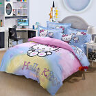 ** Hello Kitty Dream House Single Bed Quilt Cover Set - Flat or Fitted Sheet **