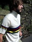 Retro Vintage Merino wool cycling bike jersey t shirt knitwear mens clothing top