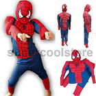 Boys Kids Spiderman Party Red Costume Muscle Hero Outfit Cosplay Age 2 3 4 5 6 7