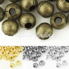 20g Approx 150/60pcs 4/6mm Round Spacer Crimps End Beads Findings Lots