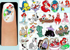 60x THE LITTLE MERMAID Nail Art Decals Decal + Free Gems Disney Ariel Princess