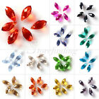 100Pcs 6mm 8mm Top-drilled Faceted Glass Crystal Teardrop For Swarovski Beads