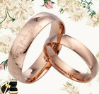 Men Women Rose Gold Lord of the Dome Titanium Wedding Rings MKUS084C4