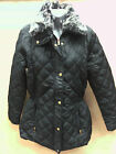 REDUCED SUGAR CANDY LADIES WOMENS QUILTED DETACHABLE COLLAR  JACKET COAT 8 10 12