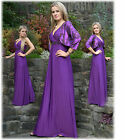 NEW LONG ELEGANT EVENING MAXI DRESS GOWN BRIDESMAID + BOLERO 12 - 34