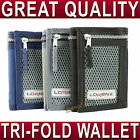 Quality Sports trifold WALLET Velcro closure for boys gents ladies 3 colours NEW