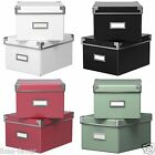Ikea KASSETT Storage Box&Lid 2pack- Stylish Organiser CDs DVDs Accessories Games