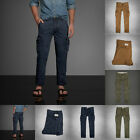 new ABERCROMBIE & Fitch Men A&F Military Cargo pants Size 28x30 30x30 32 NWT $88