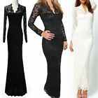 Celeb Style Womens Sexy V Neck Lace Party Evening Cocktail Bandage Bodycon Dress
