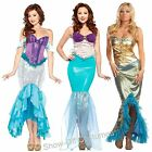 LADIES MERMAID FANCY DRESS COSTUMES SIZES 6-12