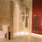 Bathroom Shower 8mm Glass Panel 1850 x 1000  Walk In Wet Room Return Screen(op)