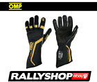 FIA Approved OMP One Evo Race Gloves FREE DELIVERY WORLDWIDE !!! Black / gold