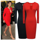 Celebrity Style Women Sexy Cocktail Party Evening Prom Midi Pencil Bodycon Dress