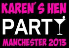 HEN PARTY PERSONALISED COCKTAIL PARTY IRON ON T-SHIRT TRANSFER