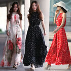 Women`s Long Chiffon Bandeau Maxi Dress New Ladies Summer Formal Evening Dress