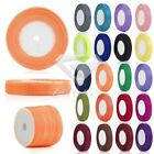 50 Yards 3/6/10/15/20/25/38/50mm Sheer Organza Ribbon Party Wedding 35 Colors