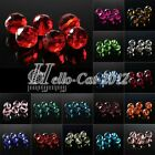 72pcs 8mm Glass Crystal Disco Ball Spacer Loose Beads DIY Jewelry Making 5003